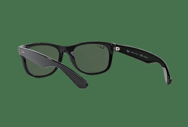 Ray Ban New Wayfarer Black lente Crystal Green Polarized cod. RB2132 901/58 55 - Image 5