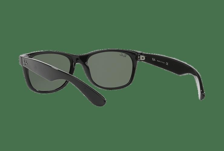 Ray Ban New Wayfarer Black lente Crystal Green cod. RB2132 901L 55 - Image 5