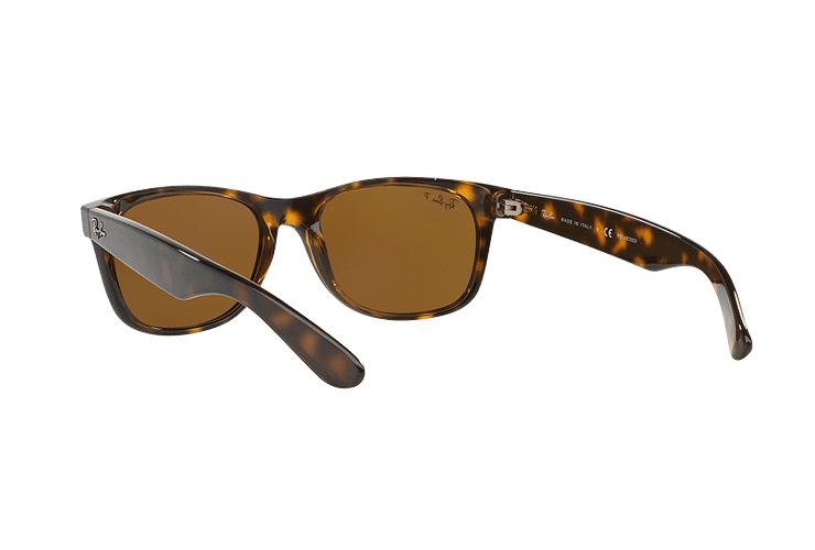 Ray Ban New Wayfarer Tortoise lente Crystal Brown Polarized cod. RB2132 902/57 55 - Image 5