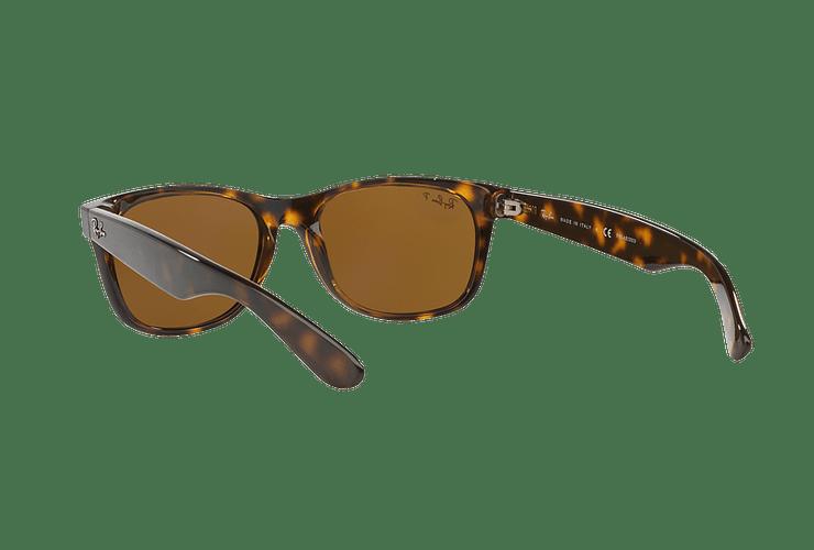 Ray Ban New Wayfarer Tortoise lente Crystal Brown Polarized cod. RB2132 902/57 55 - Image 5