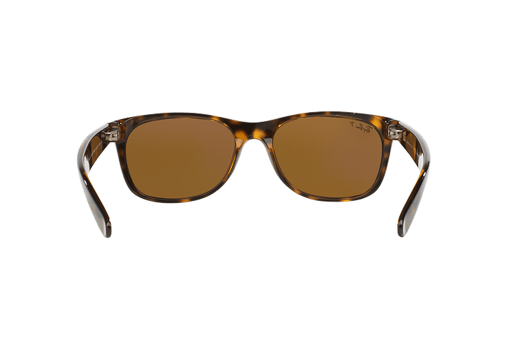Ray Ban New Wayfarer Tortoise lente Crystal Brown Polarized cod. RB2132 902/57 55 - Image 6