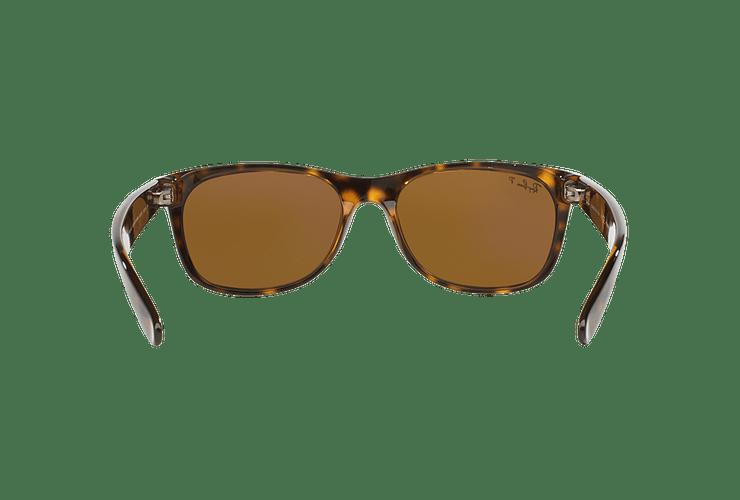 Ray Ban New Wayfarer Tortoise lente Crystal Brown Polarized cod. RB2132 902/57 55 - Image 6