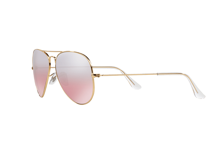 Ray Ban Aviador Gold lente Brown Pink Mirror cod. RB3025 001/3E 58 - Image 2
