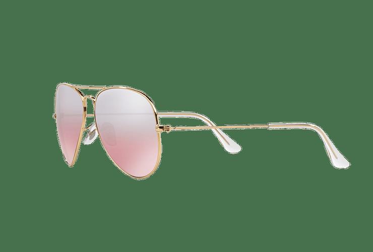 Ray Ban Aviador Gold lente Brown Pink Mirror cod. RB3025 001/3E 58 - Image 2