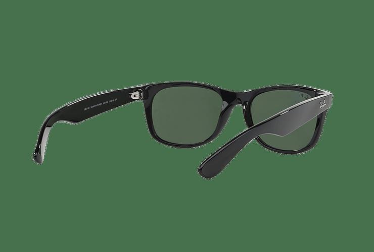 Ray Ban New Wayfarer Black lente Crystal Green Polarized cod. RB2132 901/58 55 - Image 7
