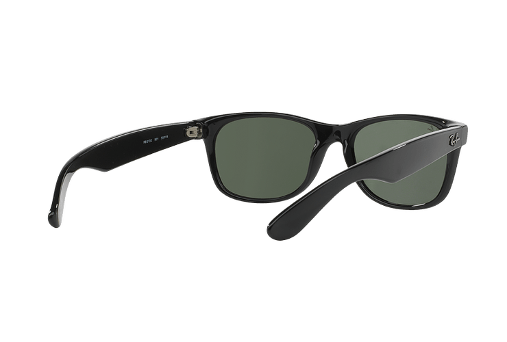 Ray Ban New Wayfarer Black lente Crystal Green cod. RB2132 901L 55 - Image 7