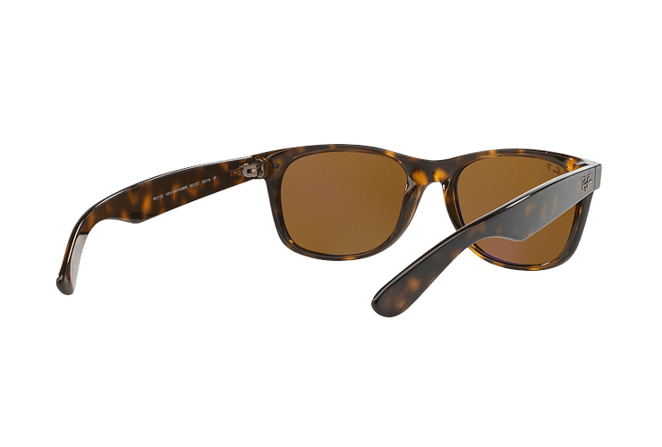 Ray Ban New Wayfarer Tortoise lente Crystal Brown Polarized cod. RB2132 902/57 55 - Image 7