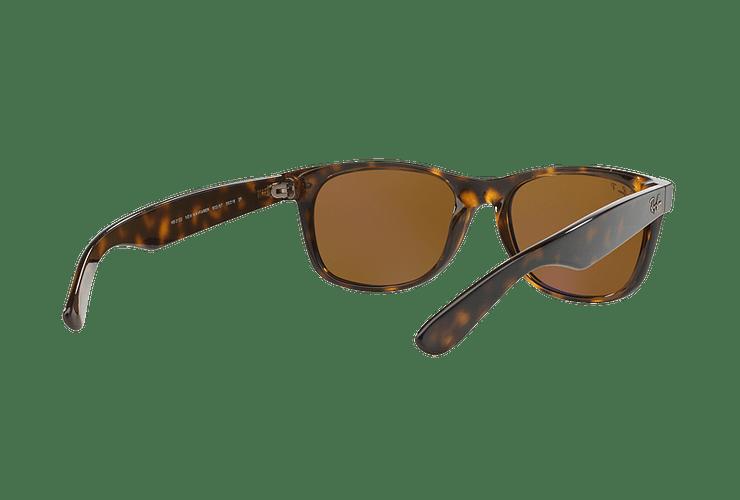 Ray Ban New Wayfarer Tortoise lente Crystal Brown Polarized cod. RB2132 902/57 55 - Image 7