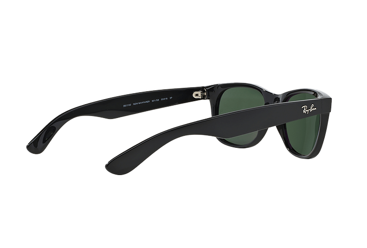 Ray Ban New Wayfarer Black lente Crystal Green Polarized cod. RB2132 901/58 55 - Image 8