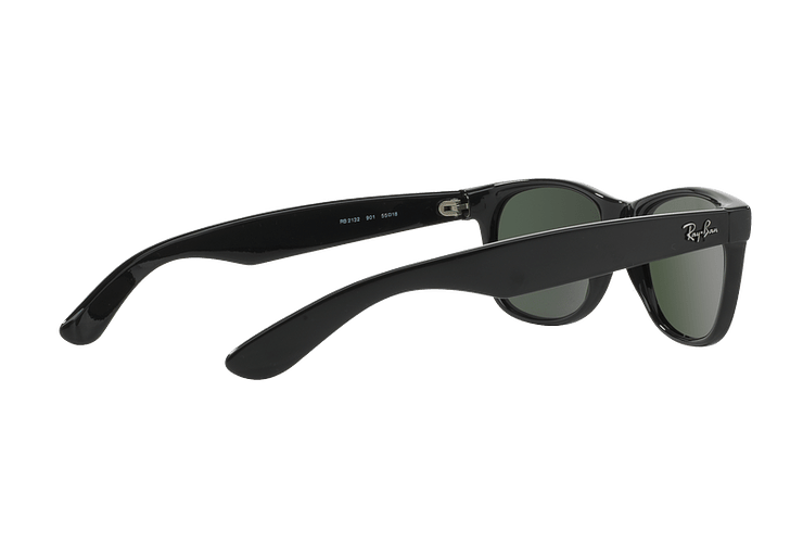 Ray Ban New Wayfarer Black lente Crystal Green cod. RB2132 901L 55 - Image 8
