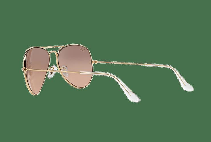 Ray Ban Aviador Gold lente Brown Pink Mirror cod. RB3025 001/3E 58 - Image 4