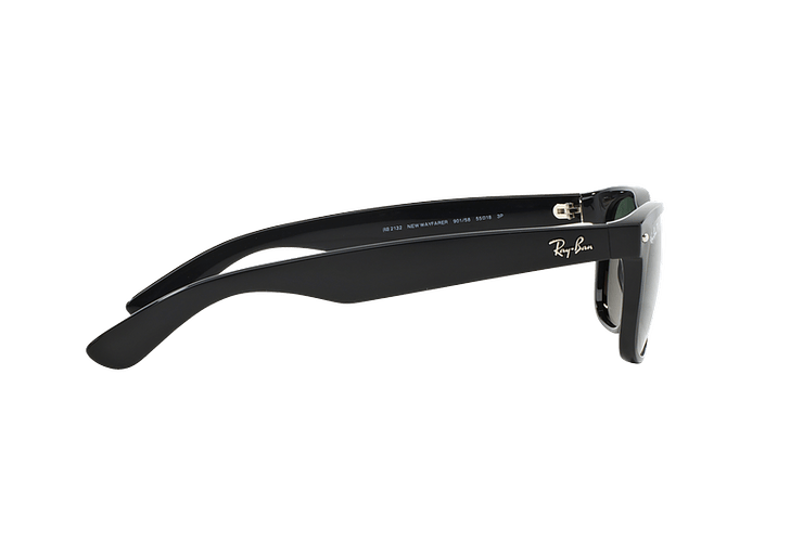 Ray Ban New Wayfarer Black lente Crystal Green Polarized cod. RB2132 901/58 55 - Image 9