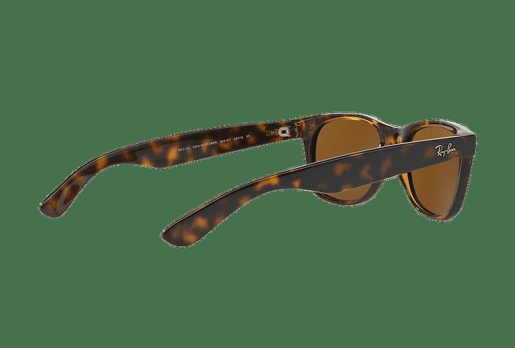 Ray Ban New Wayfarer Tortoise lente Crystal Brown Polarized cod. RB2132 902/57 55 - Image 8