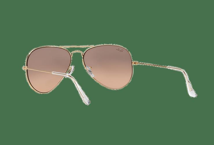 Ray Ban Aviador Gold lente Brown Pink Mirror cod. RB3025 001/3E 58 - Image 5