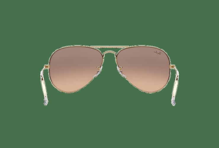 Ray Ban Aviador Gold lente Brown Pink Mirror cod. RB3025 001/3E 58 - Image 6
