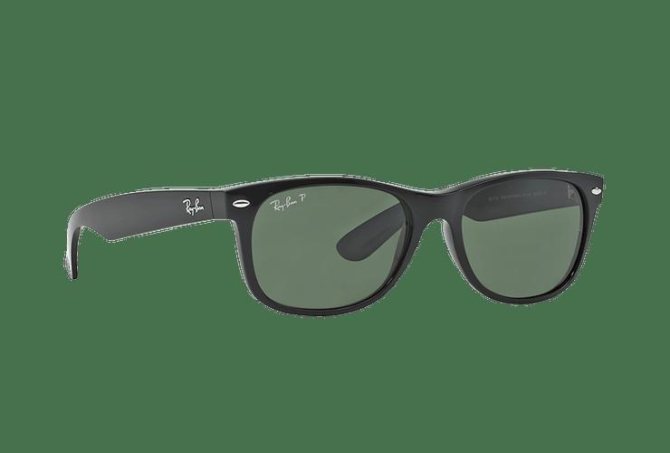 Ray Ban New Wayfarer Black lente Crystal Green Polarized cod. RB2132 901/58 55 - Image 11