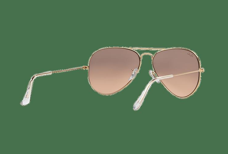 Ray Ban Aviador Gold lente Brown Pink Mirror cod. RB3025 001/3E 58 - Image 7