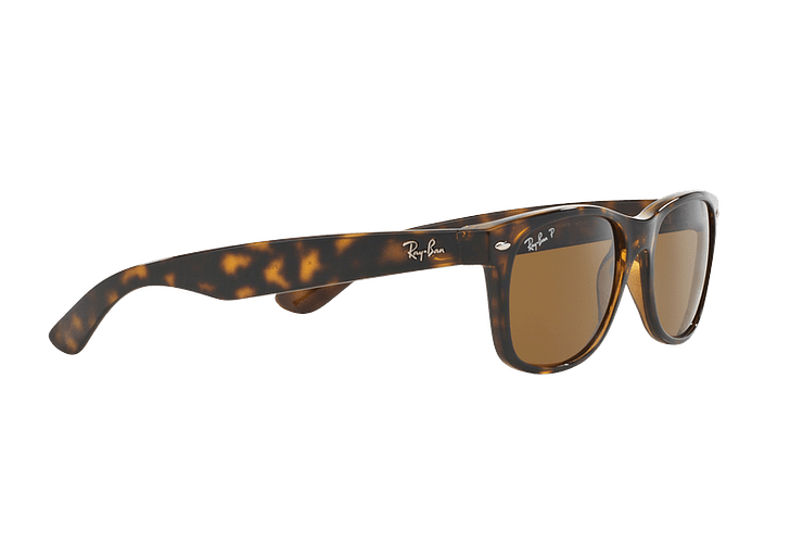 Ray Ban New Wayfarer Tortoise lente Crystal Brown Polarized cod. RB2132 902/57 55 - Image 10
