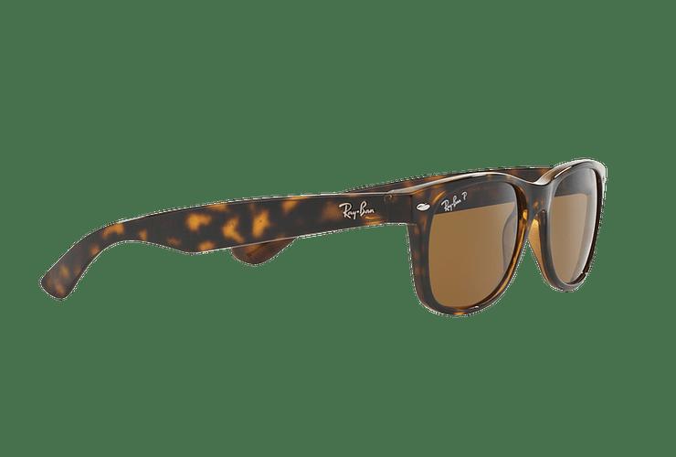 Ray Ban New Wayfarer Tortoise lente Crystal Brown Polarized cod. RB2132 902/57 55 - Image 10