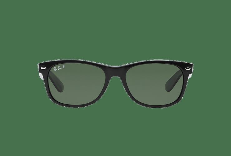 Ray Ban New Wayfarer Black lente Crystal Green Polarized cod. RB2132 901/58 55 - Image 12