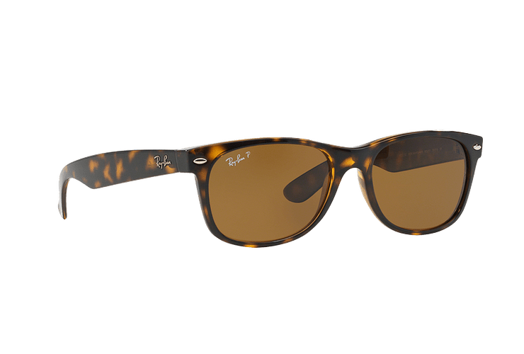 Ray Ban New Wayfarer Tortoise lente Crystal Brown Polarized cod. RB2132 902/57 55 - Image 11
