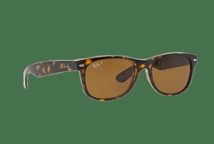 Ray Ban New Wayfarer Tortoise lente Crystal Brown Polarized cod. RB2132 902/57 55 - Image 11