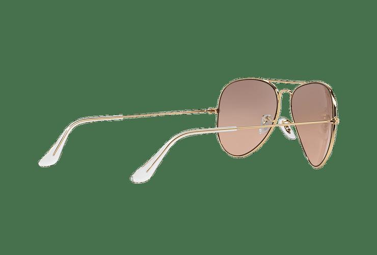 Ray Ban Aviador Gold lente Brown Pink Mirror cod. RB3025 001/3E 58 - Image 8