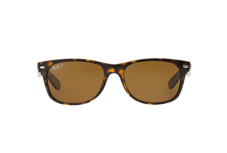 Ray Ban New Wayfarer Tortoise lente Crystal Brown Polarized cod. RB2132 902/57 55 - Image 12