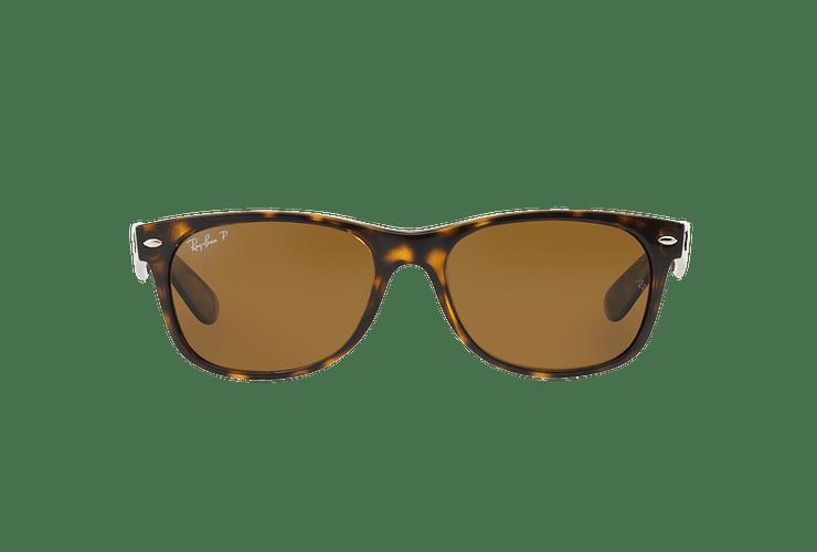 Ray Ban New Wayfarer Tortoise lente Crystal Brown Polarized cod. RB2132 902/57 55 - Image 12