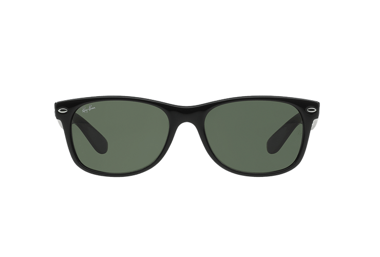 Ray Ban New Wayfarer Black lente Crystal Green cod. RB2132 901L 55 - Image 12