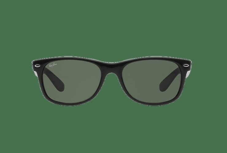 Ray-Ban New Wayfarer Black lente Crystal Green cod. RB2132 901L 55 - Image 12
