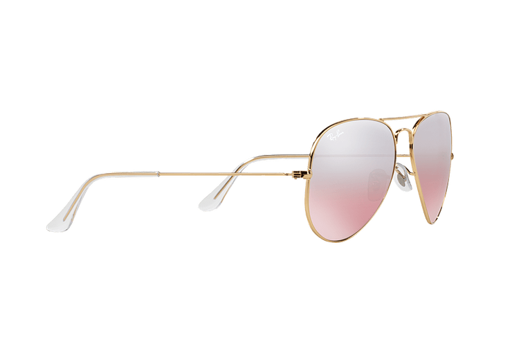 Ray Ban Aviador Gold lente Brown Pink Mirror cod. RB3025 001/3E 58 - Image 10