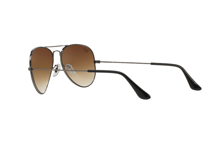 Ray Ban Aviador Gunmetal lente Crystal Brown Gradient cod. RB3025 004/51 62 - Image 4