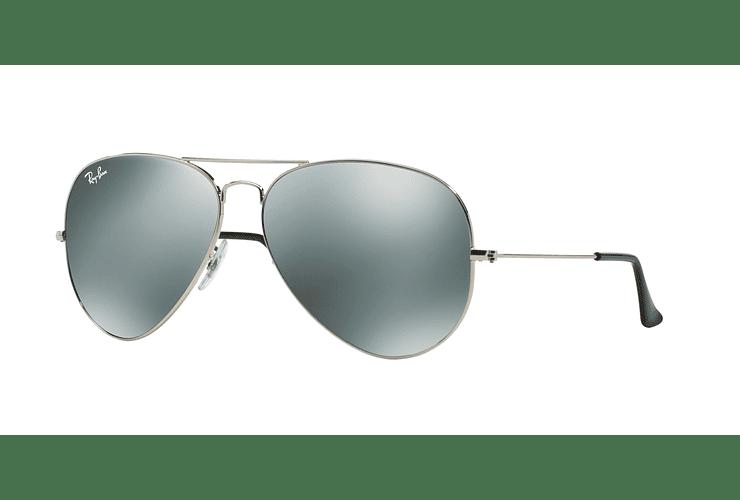 Ray Ban Aviador Silver lente Crystal Grey Mirror cod. RB3025 003/40 62 - Image 1
