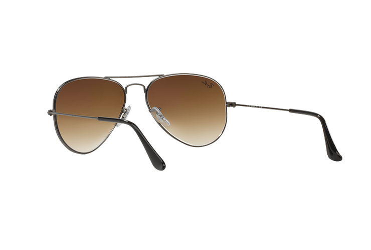 Ray Ban Aviador Gunmetal lente Crystal Brown Gradient cod. RB3025 004/51 62 - Image 5