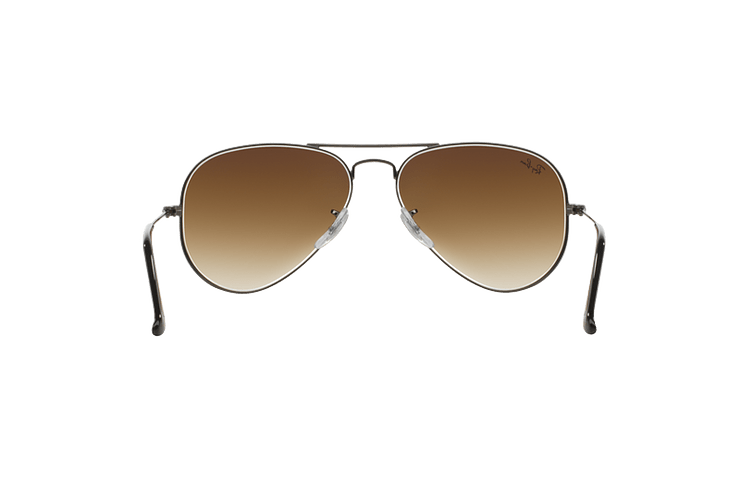 Ray Ban Aviador Gunmetal lente Crystal Brown Gradient cod. RB3025 004/51 62 - Image 6