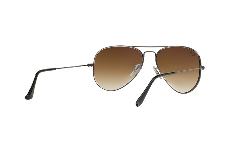 Ray Ban Aviador Gunmetal lente Crystal Brown Gradient cod. RB3025 004/51 62 - Image 7