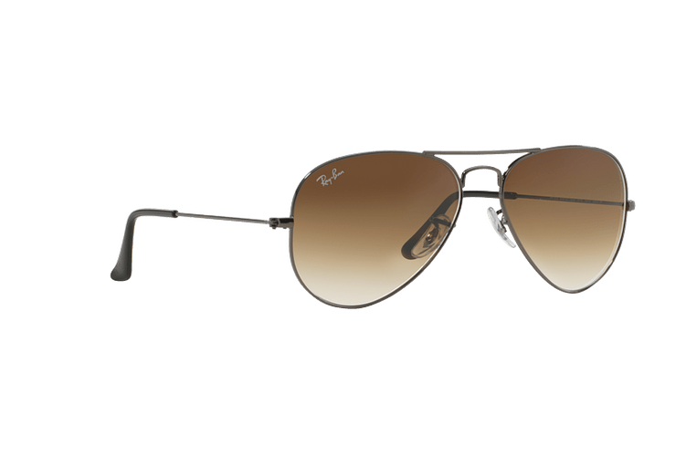 Ray Ban Aviador Gunmetal lente Crystal Brown Gradient cod. RB3025 004/51 62 - Image 11