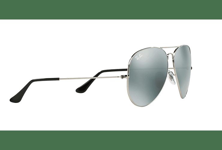 Ray Ban Aviador Silver lente Crystal Grey Mirror cod. RB3025 003/40 62 - Image 10