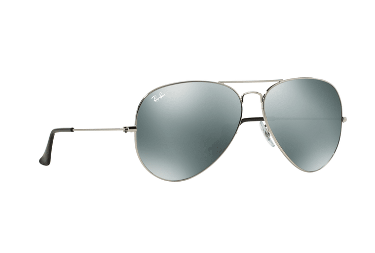 Ray Ban Aviador Silver lente Crystal Grey Mirror cod. RB3025 003/40 62 - Image 11