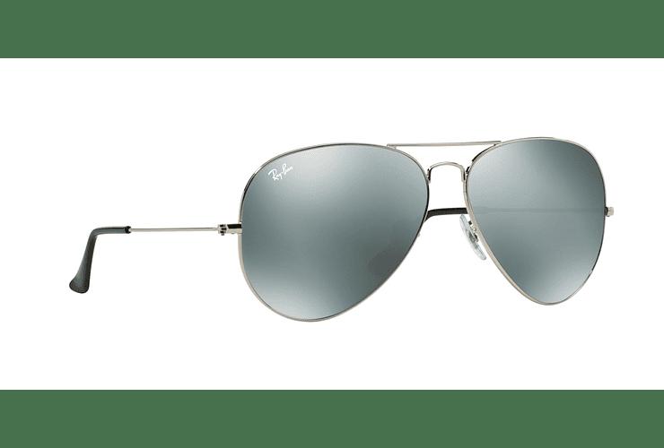 Ray Ban Aviador Silver lente Crystal Grey Mirror cod. RB3025 003/40 62 - Image 11