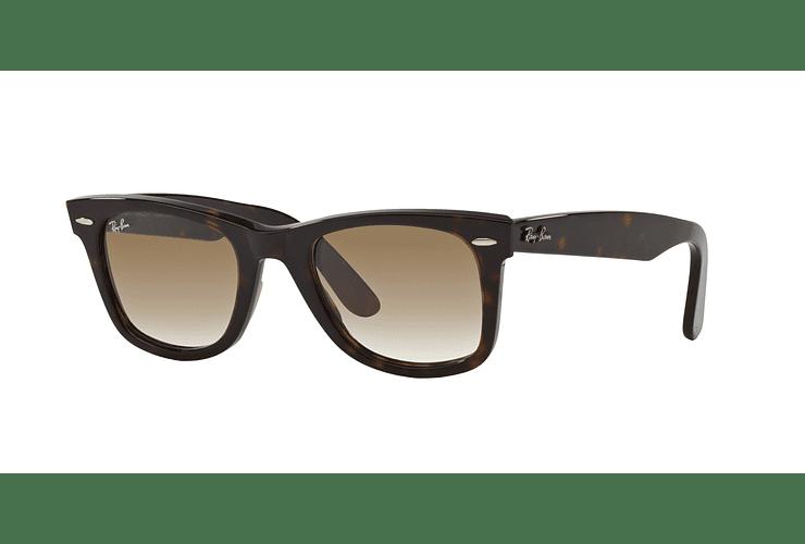 Ray Ban Wayfarer Tortoise lente Crystal Brown Gradient cod. RB2140 902/51 50 - Image 1