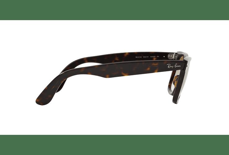 Ray Ban Wayfarer Tortoise lente Crystal Brown Gradient cod. RB2140 902/51 50 - Image 9