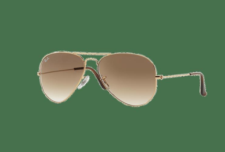Ray Ban Aviador Gold lente Crystal Brown Gradient cod. RB3025 001/51 55 - Image 1