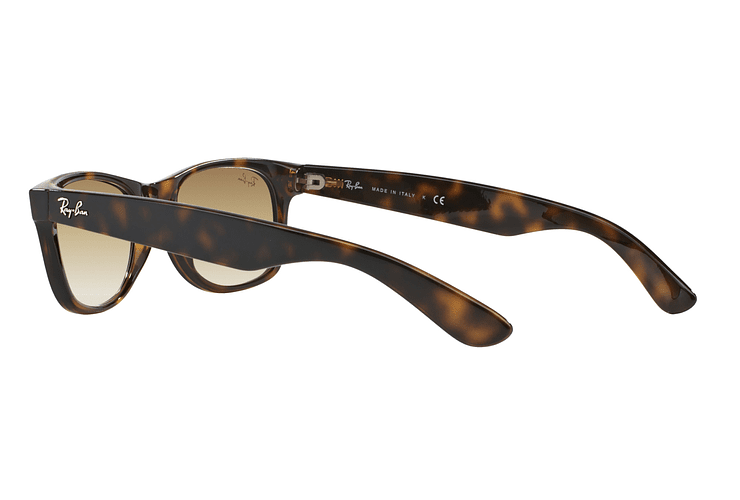 Ray Ban New Wayfarer Light Havana lente Crystal Brown Gradient cod. RB2132 710/51 55 - Image 4