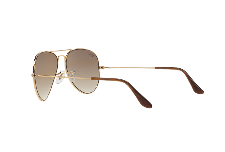 Ray Ban Aviador Gold lente Crystal Brown Gradient cod. RB3025 001/51 55 - Image 4