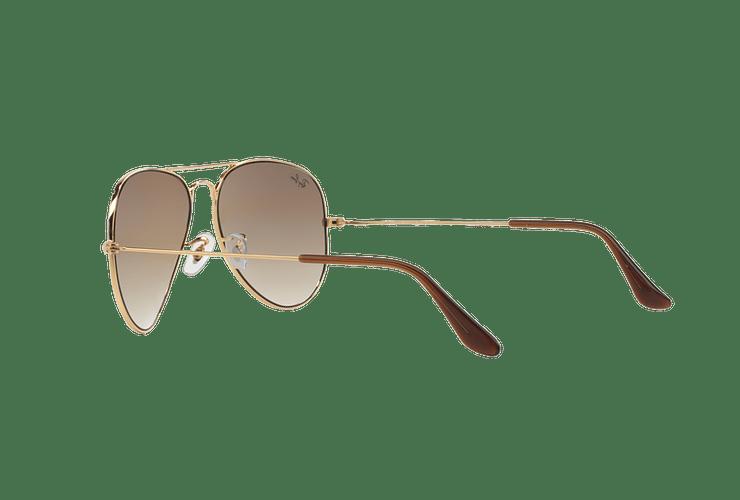 Ray Ban Aviador Gold lente Crystal Brown Gradient cod. RB3025 001/51 55 - Image 4