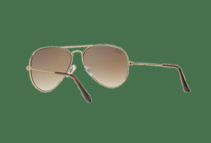 Ray Ban Aviador Gold lente Crystal Brown Gradient cod. RB3025 001/51 55 - Image 5