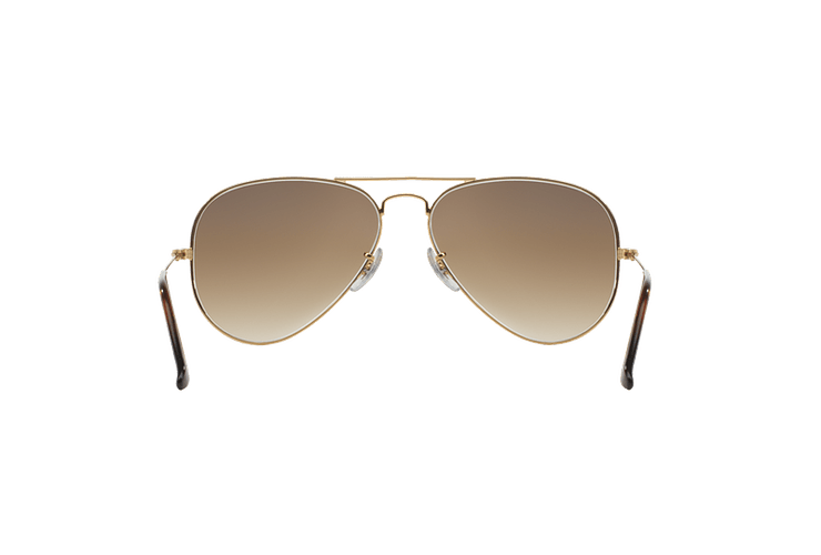 Ray Ban Aviador Gold lente Crystal Brown Gradient cod. RB3025 001/51 55 - Image 6
