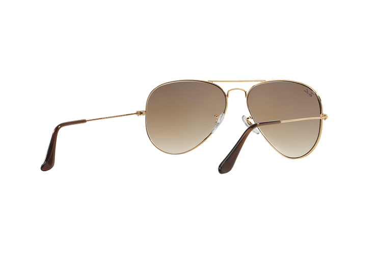 Ray Ban Aviador Gold lente Crystal Brown Gradient cod. RB3025 001/51 55 - Image 7